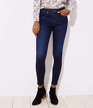 LOFT Petite Denim Leggings in Vivid Dark Indigo Wash