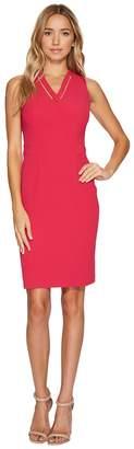 Adrianna Papell Cut Out Neckline Seamed Sheath Dress Women's Dress