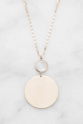 Much Too Much Sequin Chain With Moonstone & Disk