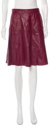 Max & Co. MAX&Co. Leather Knee-Length Skirt
