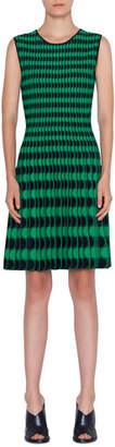 Akris Punto Memphis Scalloped Intarsia Sleeveless Dress