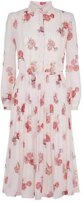 Giambattista Valli Silk Floral Midi Dress