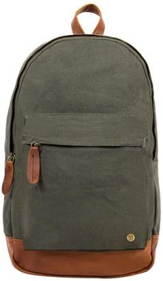 Mahi Leather Leather & Canvas Classic Backpack In Forest Green