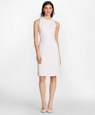 Brooks Brothers Ponte Knit Mockneck Sheath Dress