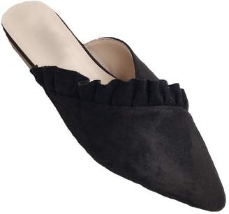 Goodnight Macaroon 'Kan' Frilled Pointed Toe Mules (4 Colors)