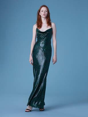 Diane von Furstenberg Sleeveless Cowl Neck Bias Gown
