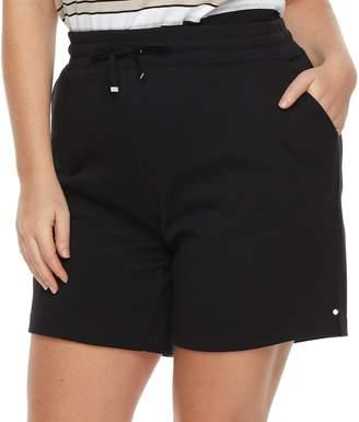 Croft & Barrow Plus Size Knit Berumda Shorts