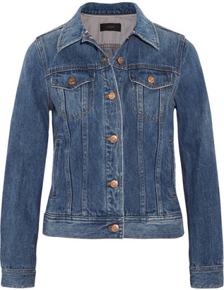 J.Crew - Denim Jacket - Mid denim $140 thestylecure.com