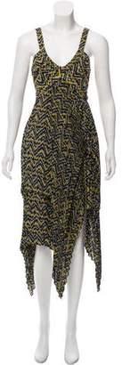 A.L.C. Silk Printed Midi Dress w/ Tags