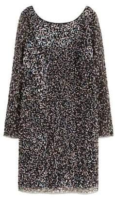 Violeta BY MANGO Scoop-back sequin dress