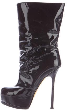 Saint LaurentYves Saint Laurent Patent Platform Ankle Boots