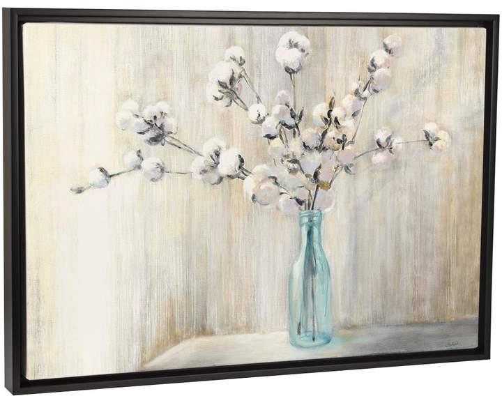 Cotton Bouquet (Framed Canvas)