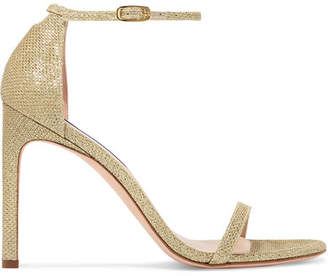 Stuart Weitzman Nudistsong Lame Sandals