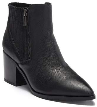 Kenneth Cole Reaction Cue Up Block Heel Leather Bootie