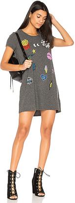 Lauren Moshi Lana Love & Smile Dress in Gray $121 thestylecure.com