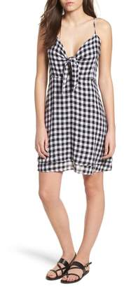 Rails August Gingham Tie Front Dress