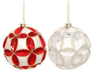 Mark Roberts Poinsettia Ball Ornament - Set of 2