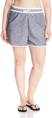 Free Country Women's Plus-Size Heather Surf Sporty Short