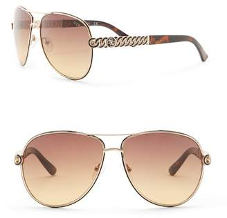 GUESS 59mm Aviator Sunglasses