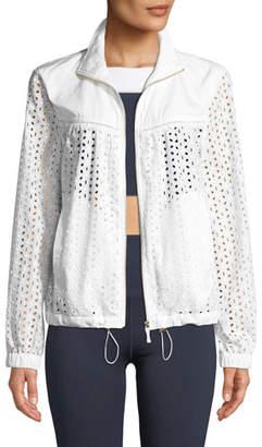 Kate Spade Zip-Front Eyelet Anorak Jacket