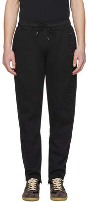 Burberry Black Nickford Embroidered Lounge Pants