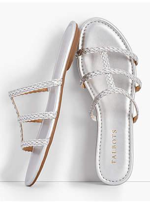 Talbots Sadie Braided Slides - Metallic
