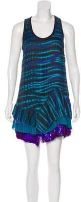 Proenza Schouler Tie-Dye Sequined Dress
