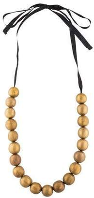 Marni Painted Wood Bead Necklace
