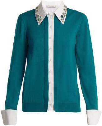 Mary Katrantzou Bextor crystal-embellished wool cardigan