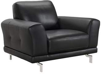 Everly Armen Living Contemporary Genuine Leather Chair