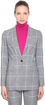 Calvin Klein Check Wool Blend Blazer