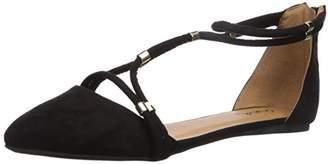 Qupid Women's Swift-244 X Ballet Flat