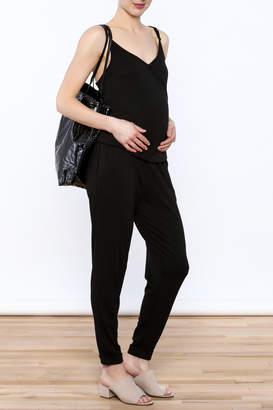 Belabumbum Black Sleeveless Jumpsuit
