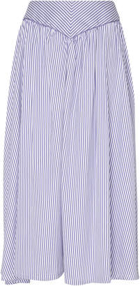 Thierry Colson Trish Cricket Stripes Midi Skirt