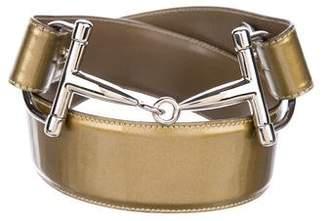 Gucci Patent Leather Horsetbit Belt
