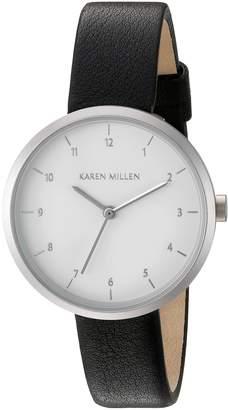 Karen Millen Women's KM135B Analog Display Quartz Black Watch