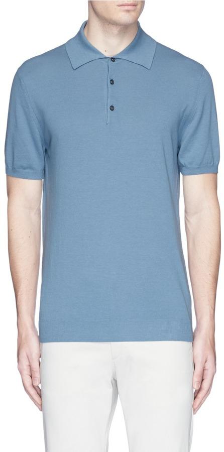 AlteaAltea Cotton knit polo shirt