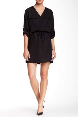 Max Studio Rolled Sleeve Shirt Dress