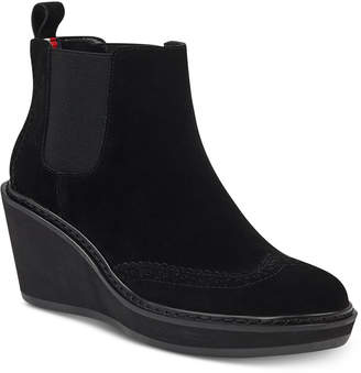 Tommy Hilfiger Sirina Platform Wedge Booties Women's Shoes