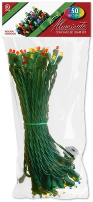 National Tree Company 50 Light Concave Multicolored LED Christmas Lights