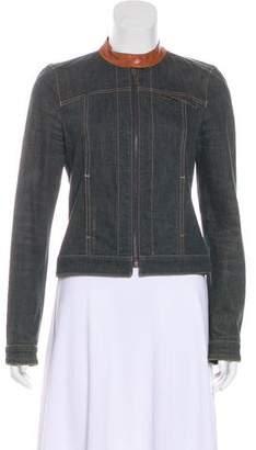 Kenzo Denim Leather-Accented Jacket