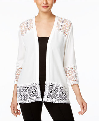 Ny Collection Lace-Trim Cardigan $40 thestylecure.com