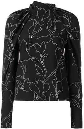 Carven floral print blouse
