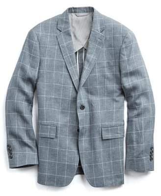 Todd Snyder White Label Sutton Windowpane Linen Unconstructed Sport Coat in Grey
