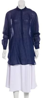 Tibi High-Low Long Sleeve Tunic