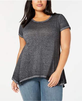 Style&Co. Style & Co Plus Size Cotton Handkerchief-Hem Top