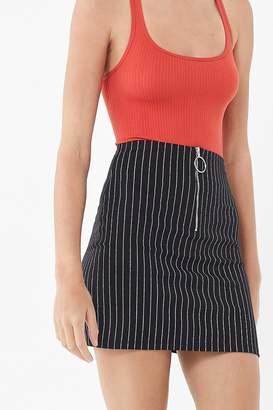 Motel Kimber Pinstripe Mini Skirt