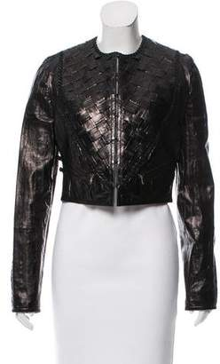 Emilio Pucci Woven Leather Jacket