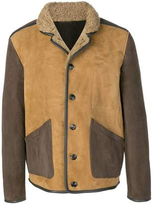 YMC two-tone button jacket