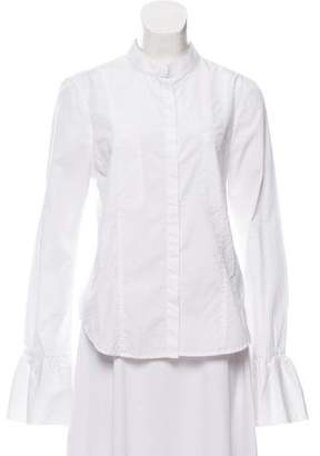 Frame Voluminous Cuff Button-Up Blouse w/ Tags